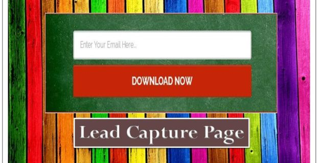 what is lead capture page