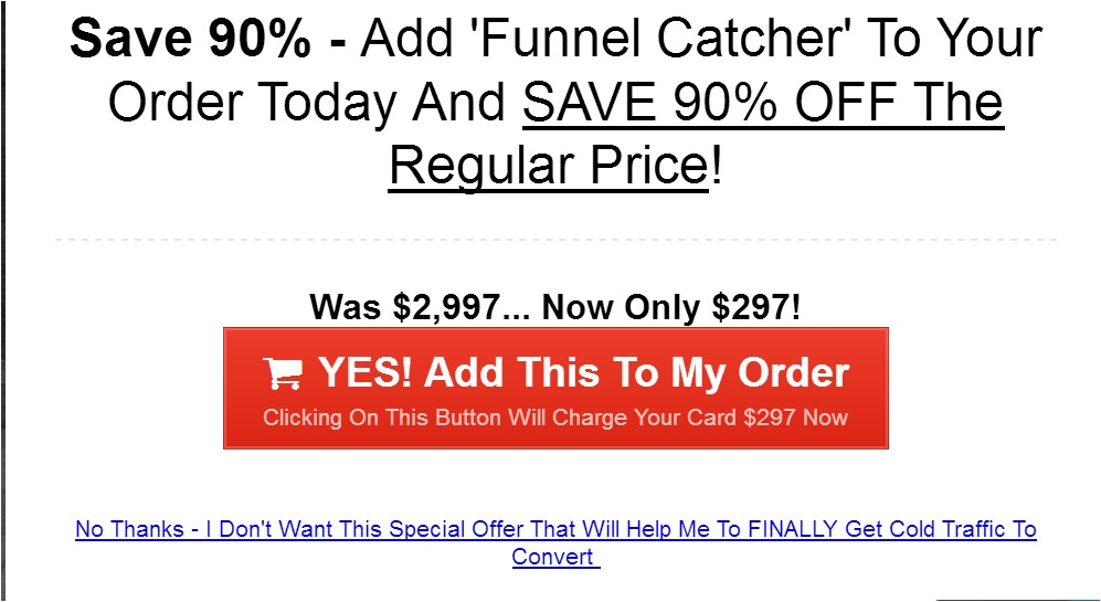 funnel u next page after buying first product