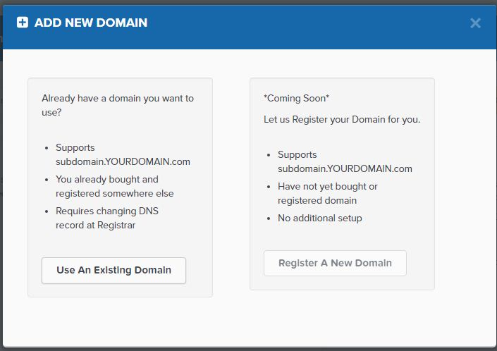 subdomain add new domain