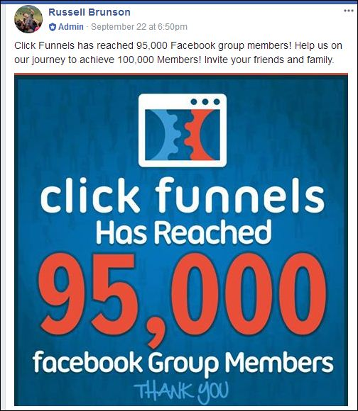 clickfunnels 95000 facebook book group members