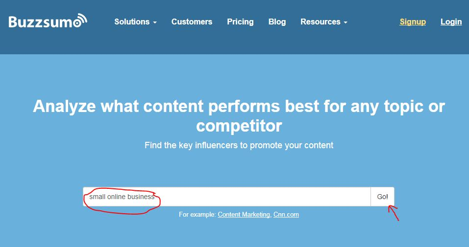 small online business tool buzzsumo
