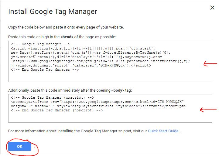 google tag manager code 4