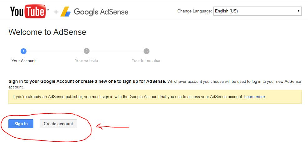youtube google adsense program