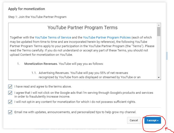 youtube partner program policy