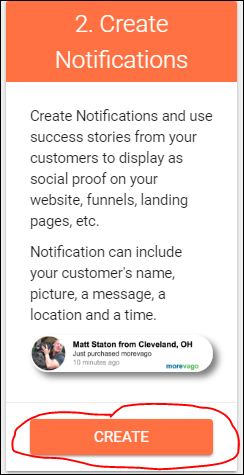 create notifications button