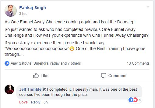 one funnel away challenge feedback 1