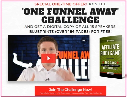 clickfunnels affiliate bootcamp summit upsell one funnel away