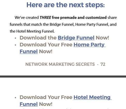 share funnel link network marketing secrets book