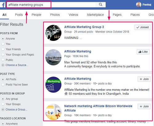 Facebook groups how to generate leads for affiliate marketing