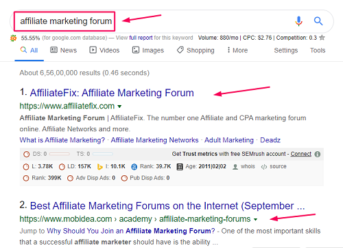 affiliate marketing forum lead