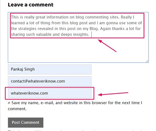 blog commenting leadmagnet