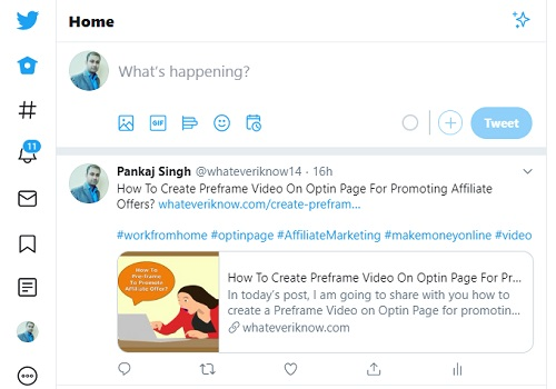 how to get free traffic for affiliate marketing twitter post